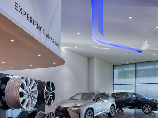 Restyling LEXUS showrooms